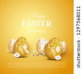 modern easter greeting card... | Shutterstock .eps vector #1297568011