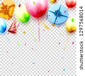 happy birthday party template... | Shutterstock .eps vector #1297568014