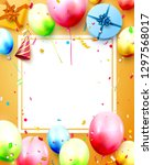 happy birthday party template... | Shutterstock .eps vector #1297568017