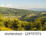 panoramic view of assergi  l... | Shutterstock . vector #129757571