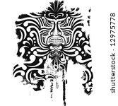 polynesian tattoo design | Shutterstock .eps vector #12975778