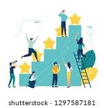 vector illustration on white... | Shutterstock .eps vector #1297587181