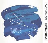 taurus hand drawn zodiac sign... | Shutterstock .eps vector #1297590697