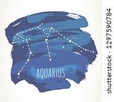 aquarius hand drawn zodiac sign ... | Shutterstock .eps vector #1297590784