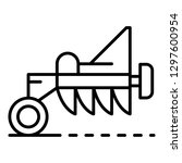 tractor plough icon. outline...   Shutterstock .eps vector #1297600954