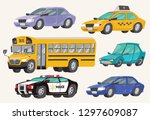 set of toy vehicles. special... | Shutterstock .eps vector #1297609087