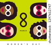 international women's day  iwd  ... | Shutterstock .eps vector #1297612747