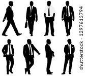 set silhouette businessman man...   Shutterstock . vector #1297613794