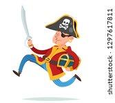 pirate captain character... | Shutterstock .eps vector #1297617811