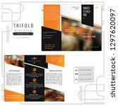 finance brochure with gradient... | Shutterstock .eps vector #1297620097