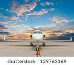 Business Plane Parked At The...