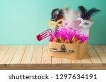 jewish holiday purim background ... | Shutterstock . vector #1297634191