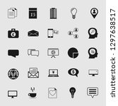 business office icons set  ...   Shutterstock .eps vector #1297638517