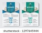 corporate business flyer poster ... | Shutterstock .eps vector #1297645444