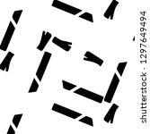 halftone monochrome texture... | Shutterstock . vector #1297649494