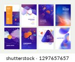 set of brochure  annual report  ... | Shutterstock .eps vector #1297657657