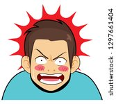 young surprised angry man... | Shutterstock .eps vector #1297661404