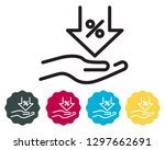 discount and offer icon as eps... | Shutterstock .eps vector #1297662691