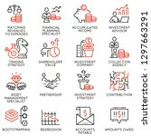 vector set of linear icons... | Shutterstock .eps vector #1297663291