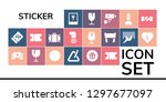 sticker icon set. 19 filled... | Shutterstock .eps vector #1297677097