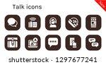 talk icon set. 10 filled talk...