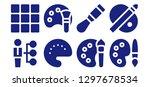 skill icon set. 8 filled skill ... | Shutterstock .eps vector #1297678534