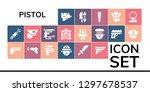 pistol icon set. 19 filled... | Shutterstock .eps vector #1297678537