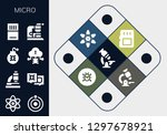 micro icon set. 13 filled... | Shutterstock .eps vector #1297678921