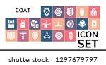 coat icon set. 19 filled coat...   Shutterstock .eps vector #1297679797