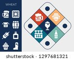 wheat icon set. 13 filled... | Shutterstock .eps vector #1297681321