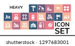 heavy icon set. 19 filled... | Shutterstock .eps vector #1297683001