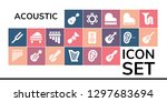 acoustic icon set. 19 filled... | Shutterstock .eps vector #1297683694