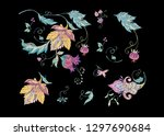 floral decorative elements in... | Shutterstock .eps vector #1297690684
