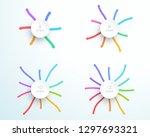 mind map arrows 6  8  10  12...   Shutterstock .eps vector #1297693321
