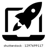 website launch vector icon | Shutterstock .eps vector #1297699117