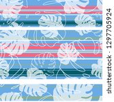 summer sweet pastel floral and... | Shutterstock .eps vector #1297705924