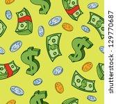 Seamless Cartoon Money And...