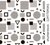 seamless abstract pattern with...   Shutterstock .eps vector #1297709341
