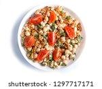 vegetarian salad of boiled... | Shutterstock . vector #1297717171