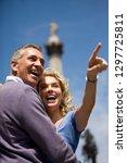 mature tourist couple on... | Shutterstock . vector #1297725811