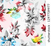 seamless floral background... | Shutterstock .eps vector #1297739977