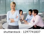businesswoman working with... | Shutterstock . vector #1297741837