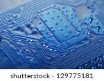 circuit board background  ... | Shutterstock . vector #129775181