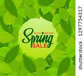 spring sale  50  off  new... | Shutterstock .eps vector #1297754317