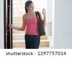 female high school student... | Shutterstock . vector #1297757014