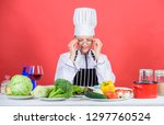 woman chef cooking healthy food....   Shutterstock . vector #1297760524