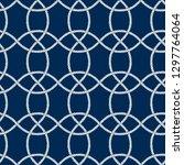 seamless nautical rope pattern. ... | Shutterstock .eps vector #1297764064