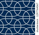 seamless nautical rope pattern. ... | Shutterstock .eps vector #1297764067