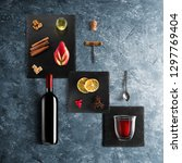mulled wine recipe ingredients... | Shutterstock . vector #1297769404