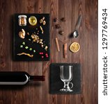 mulled wine recipe ingredients... | Shutterstock . vector #1297769434